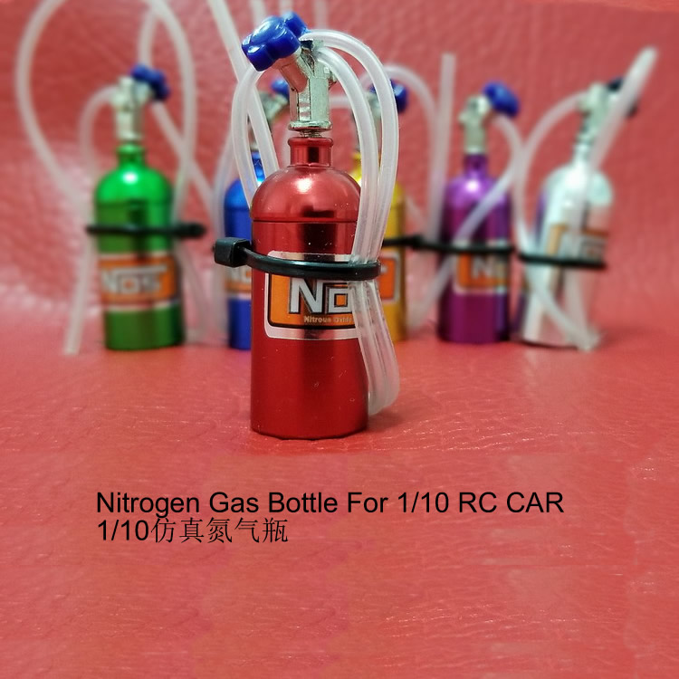 Nitrogen Gas Bottle with White Hose