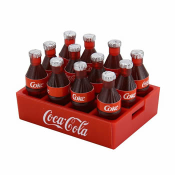 1/10 Coke Tray and Bottle