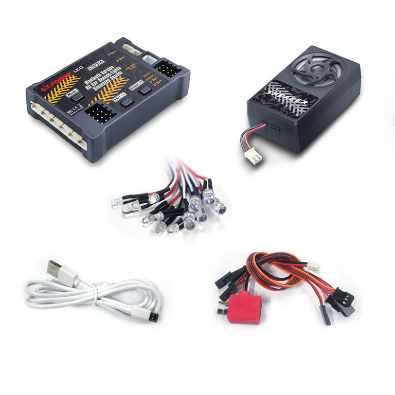 Bluetooth Version RC Car Sounds/Lights Simulated System