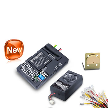 RC Container truck light and voice vibration system pro
