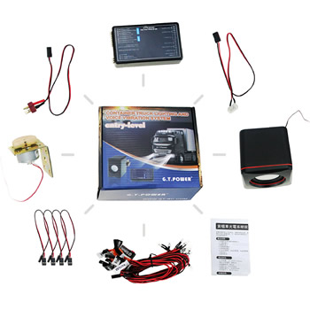 RC Container Truck Lighting and Voice Vibration System