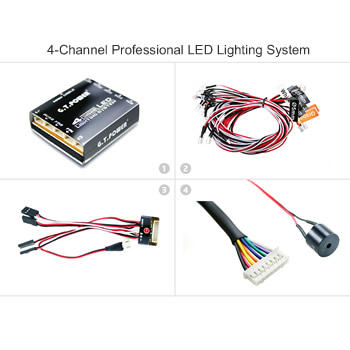 4-Channel Professional LED Lighting System