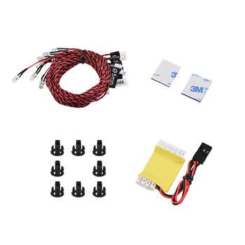 8 LED Flash  Lighting System for RC Helicopter Airplane Aircraft Plane