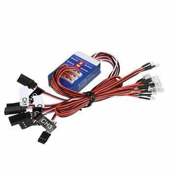 TAMIYA 12 LED Simulation Car Lights Smart System Flash Lighting for RC 1/10 Car