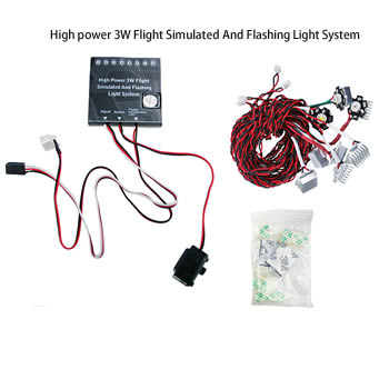 High Power 3W Flight Simulated and Flashing Light System