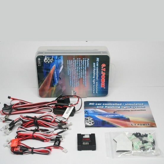 RC Car Controlled / Simulated / Flashing Light System