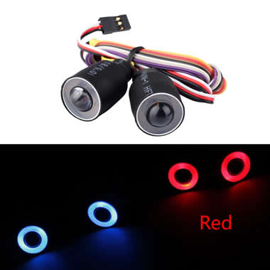 17mm Color Halo Angel Eyes LED Headlights for RC Car head lights halo with CH3 control